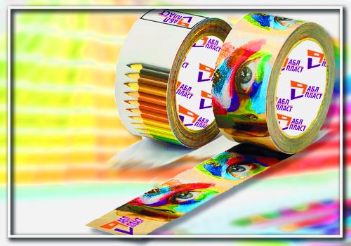 Печать логотипа на скотче